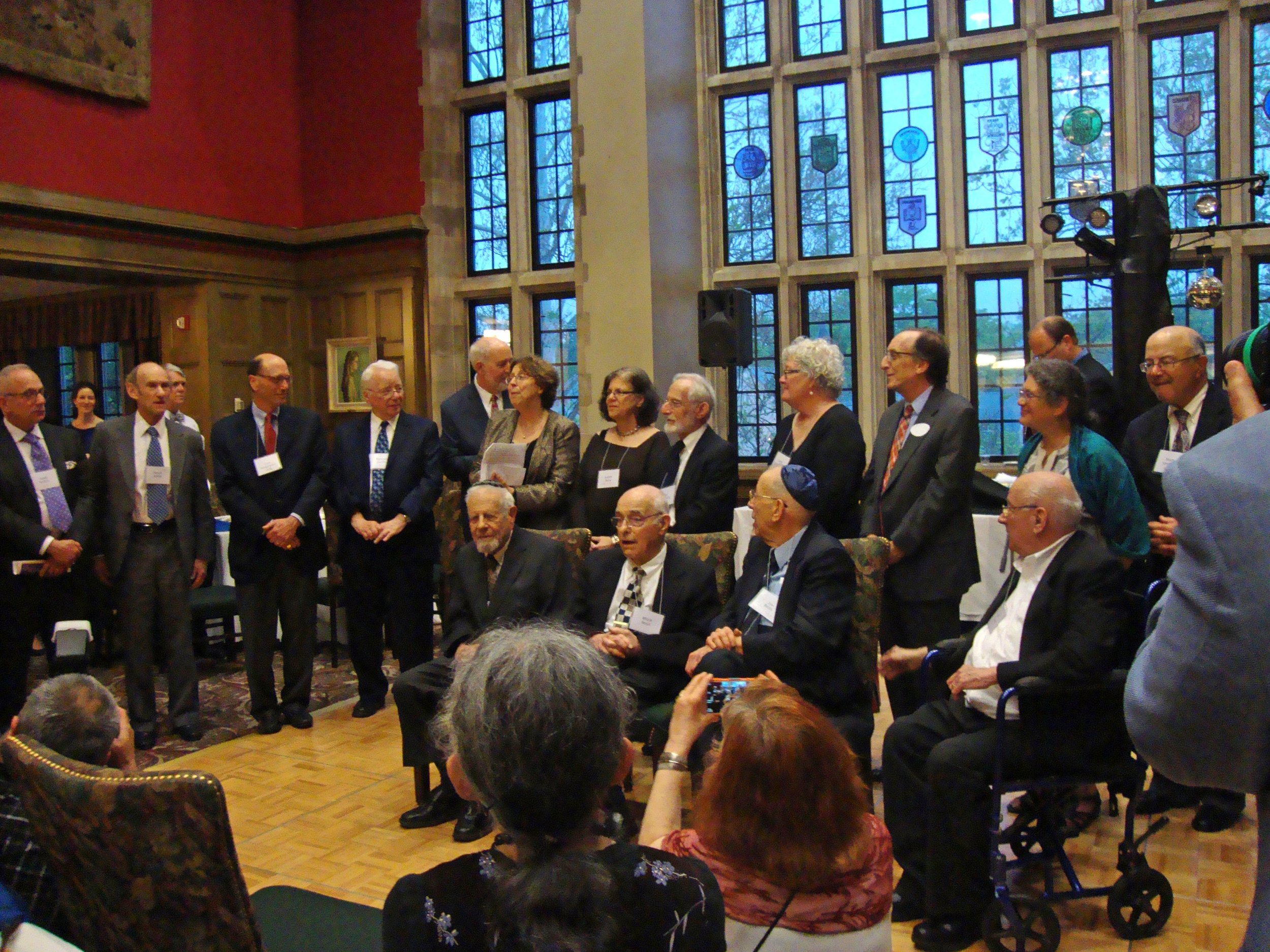 Past Presidents of Congregation Beth Shalom are honored at our 50th Anniversary Gale, May 2015.