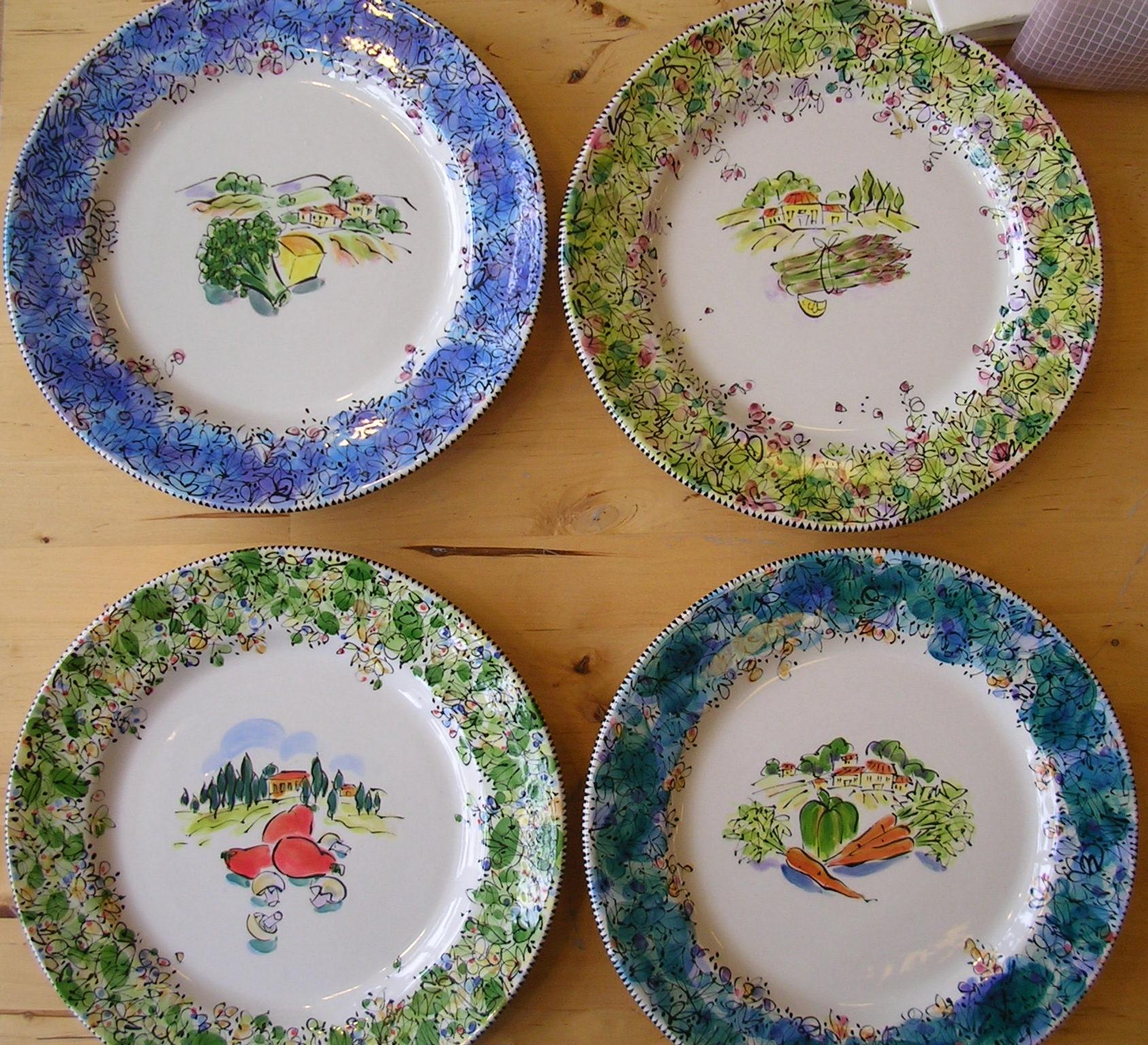 Tuscany...Dinner Plates