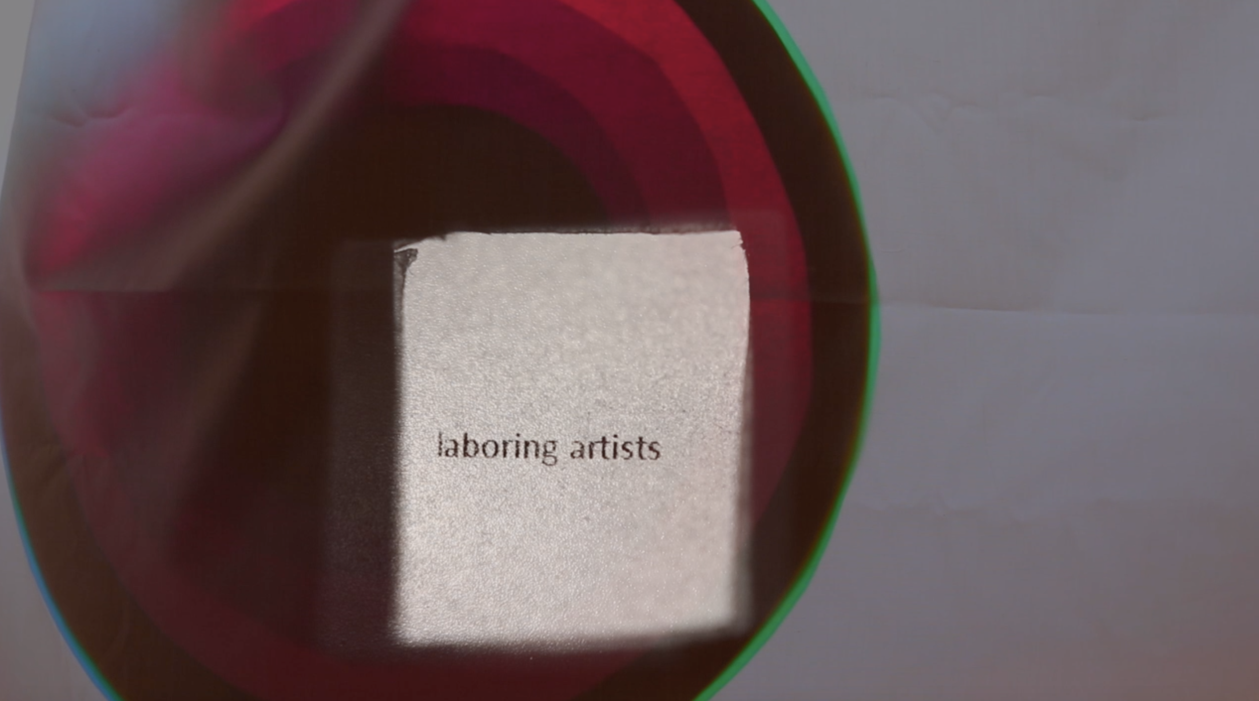 """Still from video projection created for the performance of """"Emilia Galotti's Colouring Book of Feelings,"""" written by Sophie Seita."""