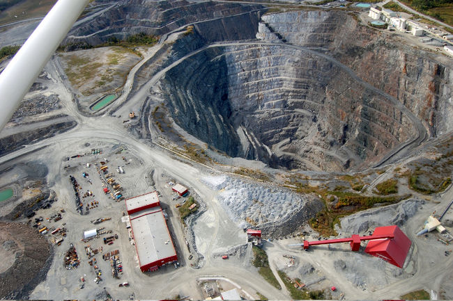 An aerial view of Goldcorp's Dome open pit mine. Postmedia file photo by Len Gillis