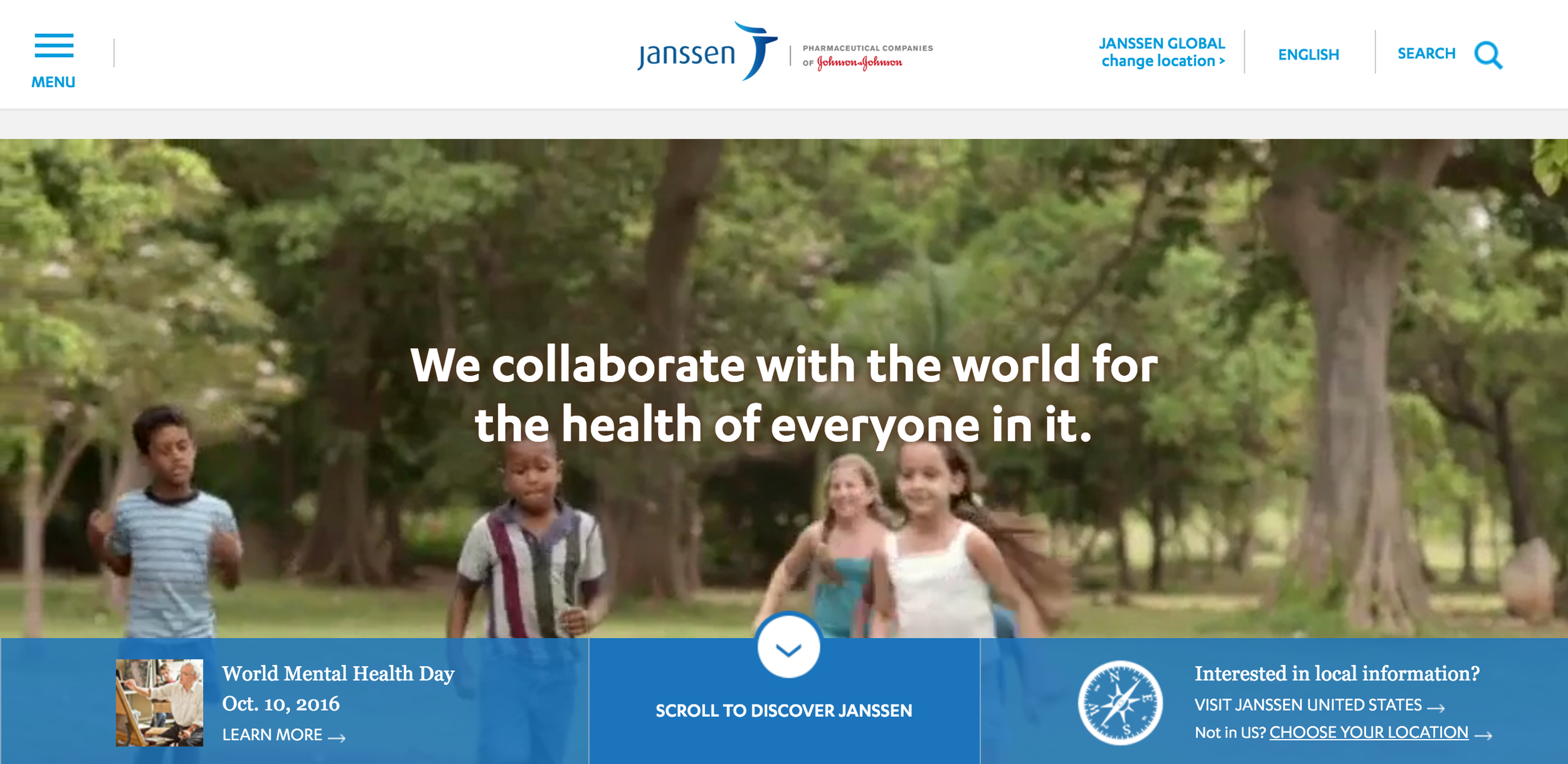 I was the head Digital Strategist on the Janssen team to manage their corporate website including content,new website features and partner communications.