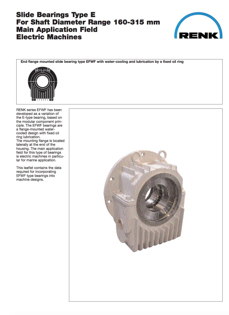 E-Type Bearing - EFWF   Shaft Diameter 160 - 315mm