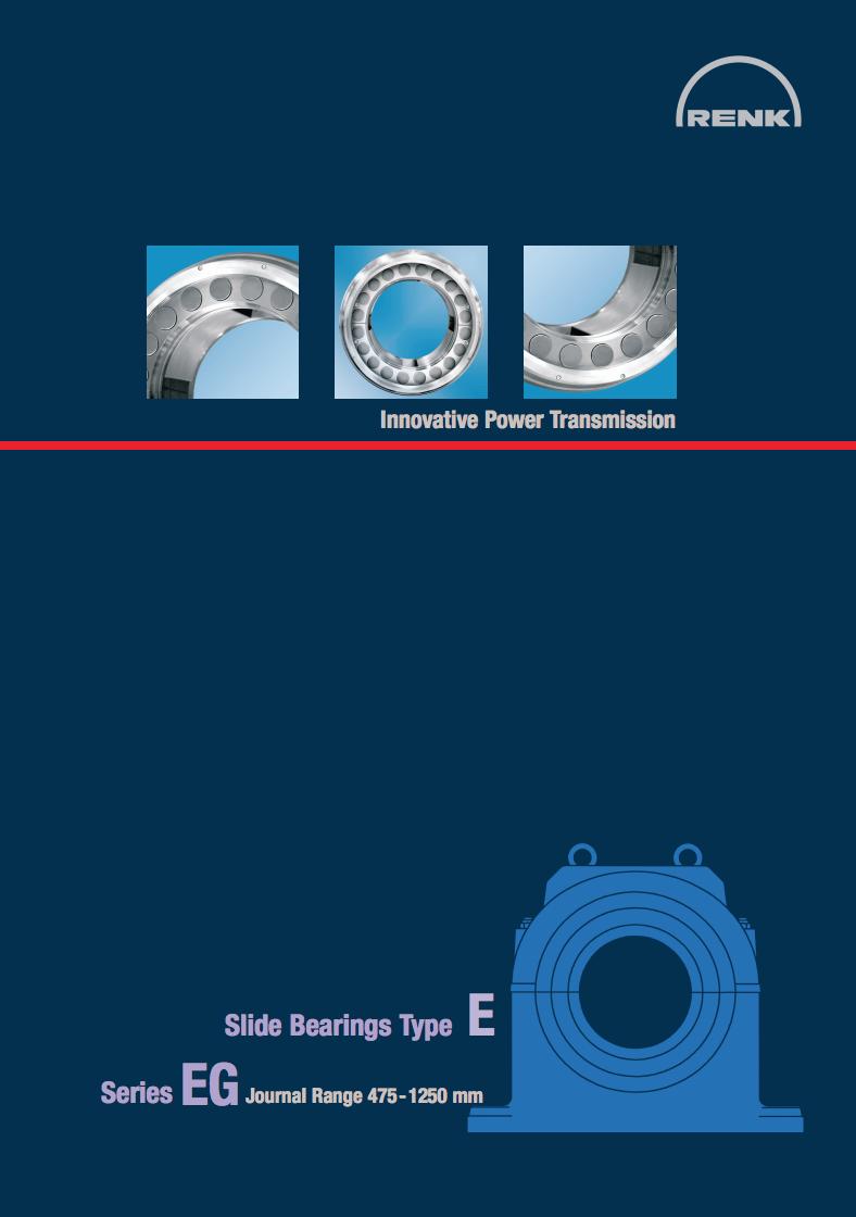 E-Type Bearing - EG   Shaft Diameters 475 - 1250mm