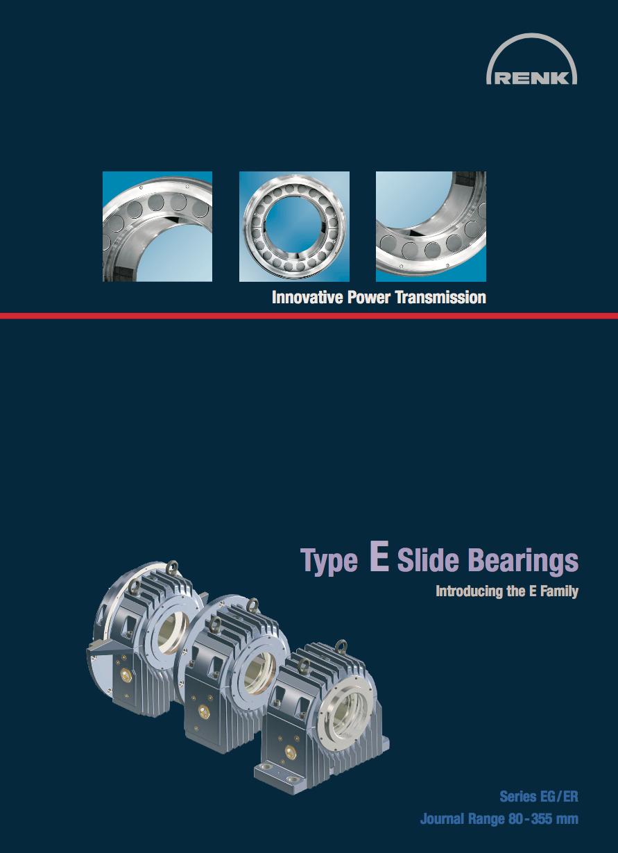 E-Type Bearing - EG/ER   Shaft Diameters 80 - 355mm