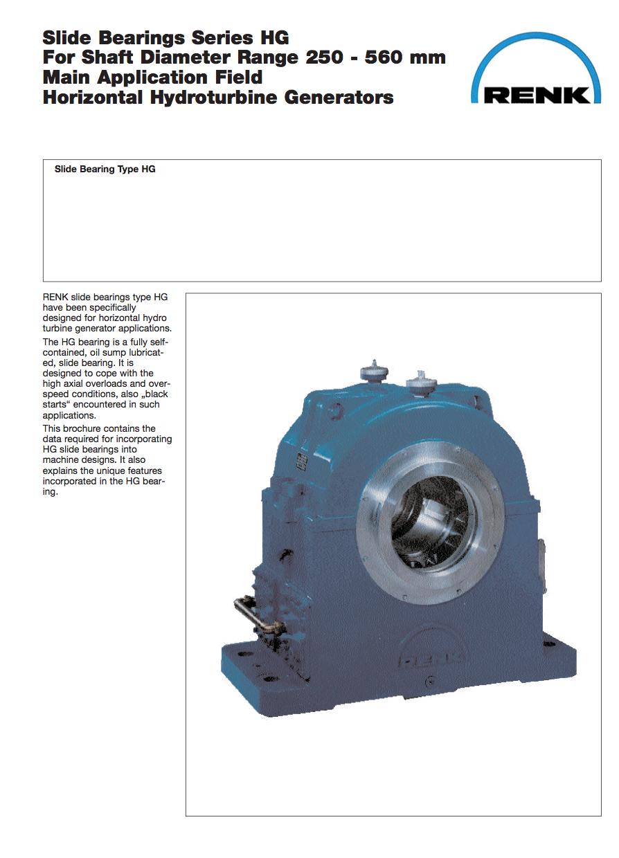 HG-Type Bearing   Shaft Diameter 250 - 560mm