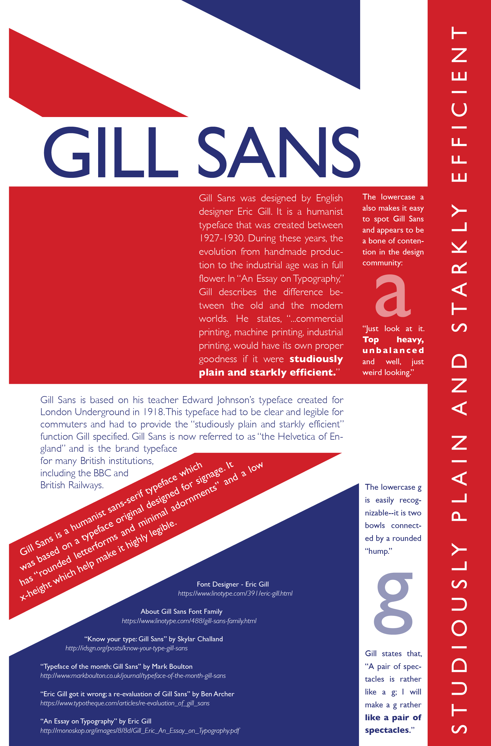 Poster: This is an homage to one of my favorite typefaces, part of a specialization certificate in graphic design from CalArts.