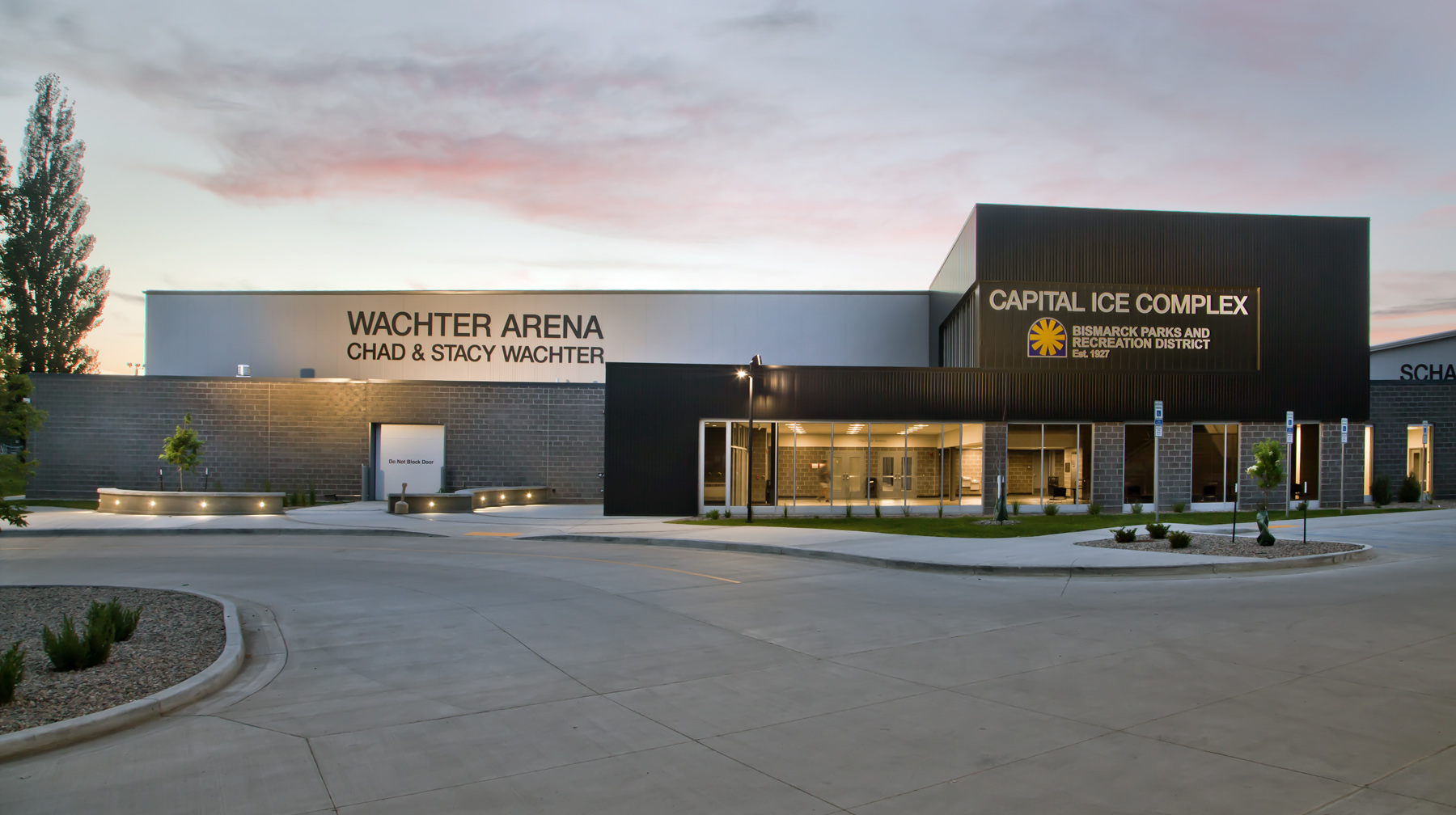 Exterior View - Wachter Arena at Capital Ice Complex
