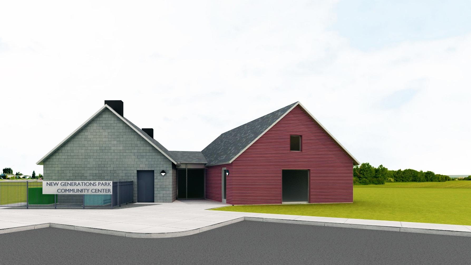 Rendering - New Generations Park - Bismarck Parks & Recreation District