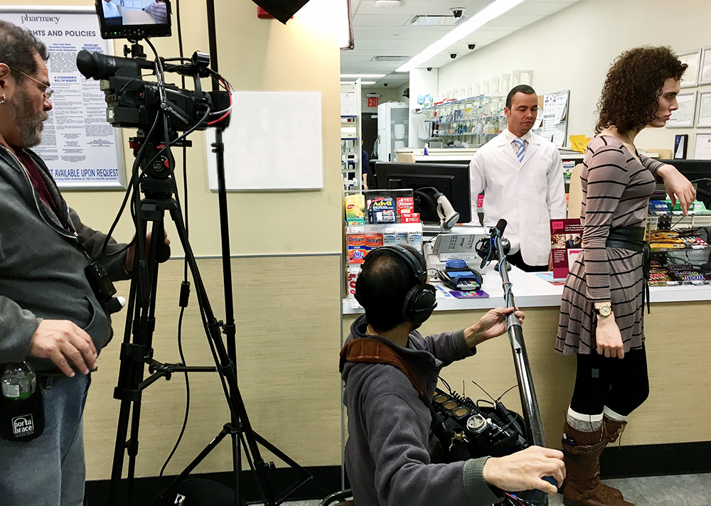 On location for a clinical education video about PrEP, or Pre-exposure Prophylaxis, for pharmacists.