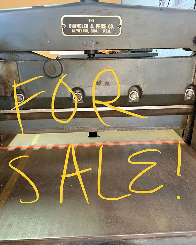 """Shop closing sale! In addition to the press sale, selling this amazing manual guillotine. Works great, blade last sharpened 2014. Has safety. 19"""" across. Bolted to a galley rack which is great for storage. $600. Thanks for your support and collaborations! 🙏🙏🙏"""