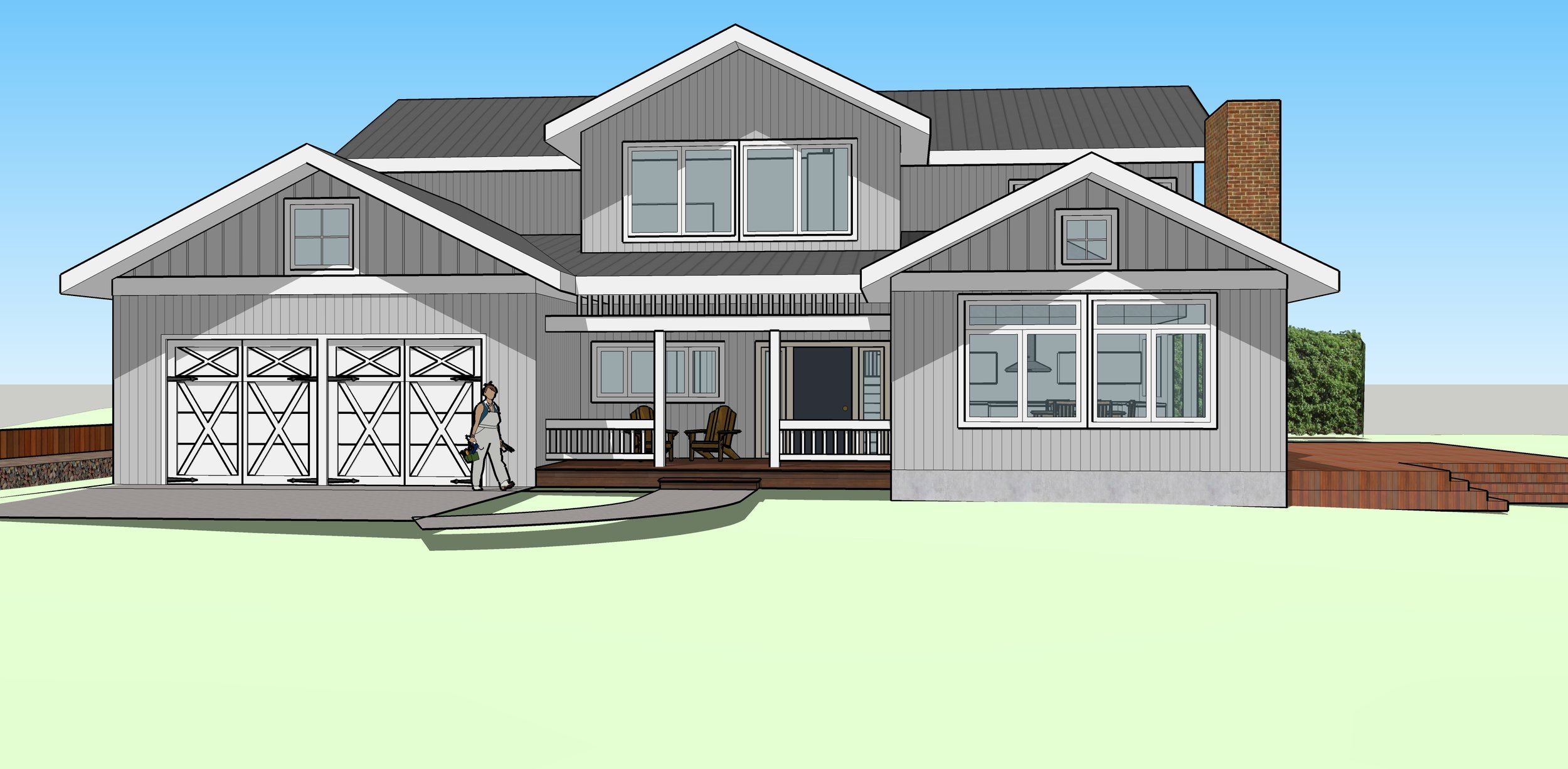 ARCHITECTURAL CONCEPT FOR SECOND STORY ADDITION.