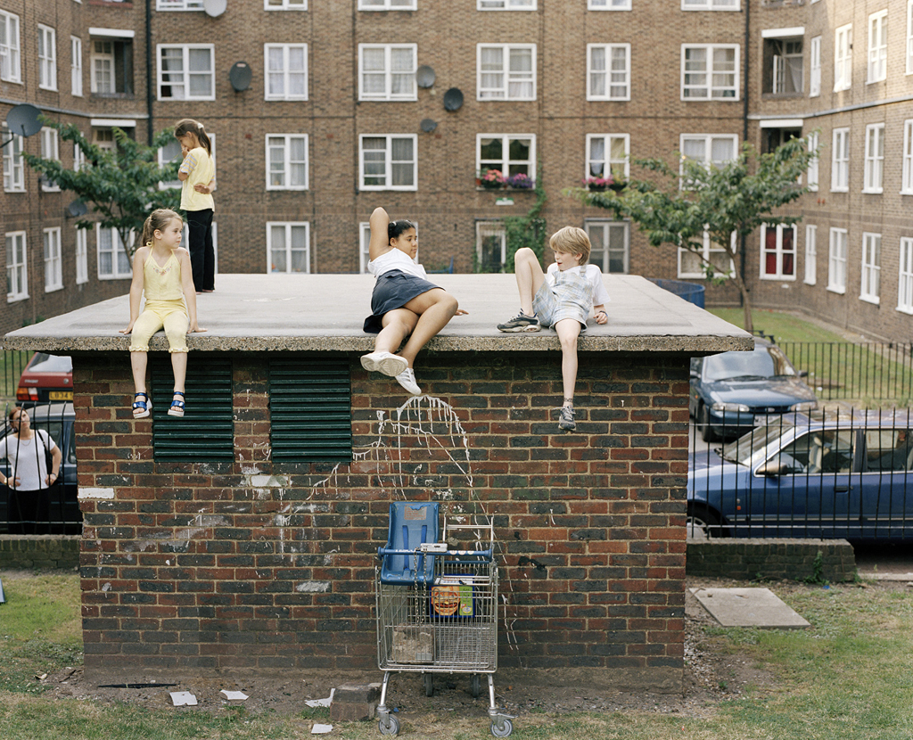 "Kids on the Roof, 2001 from the book ""We are only humans"""