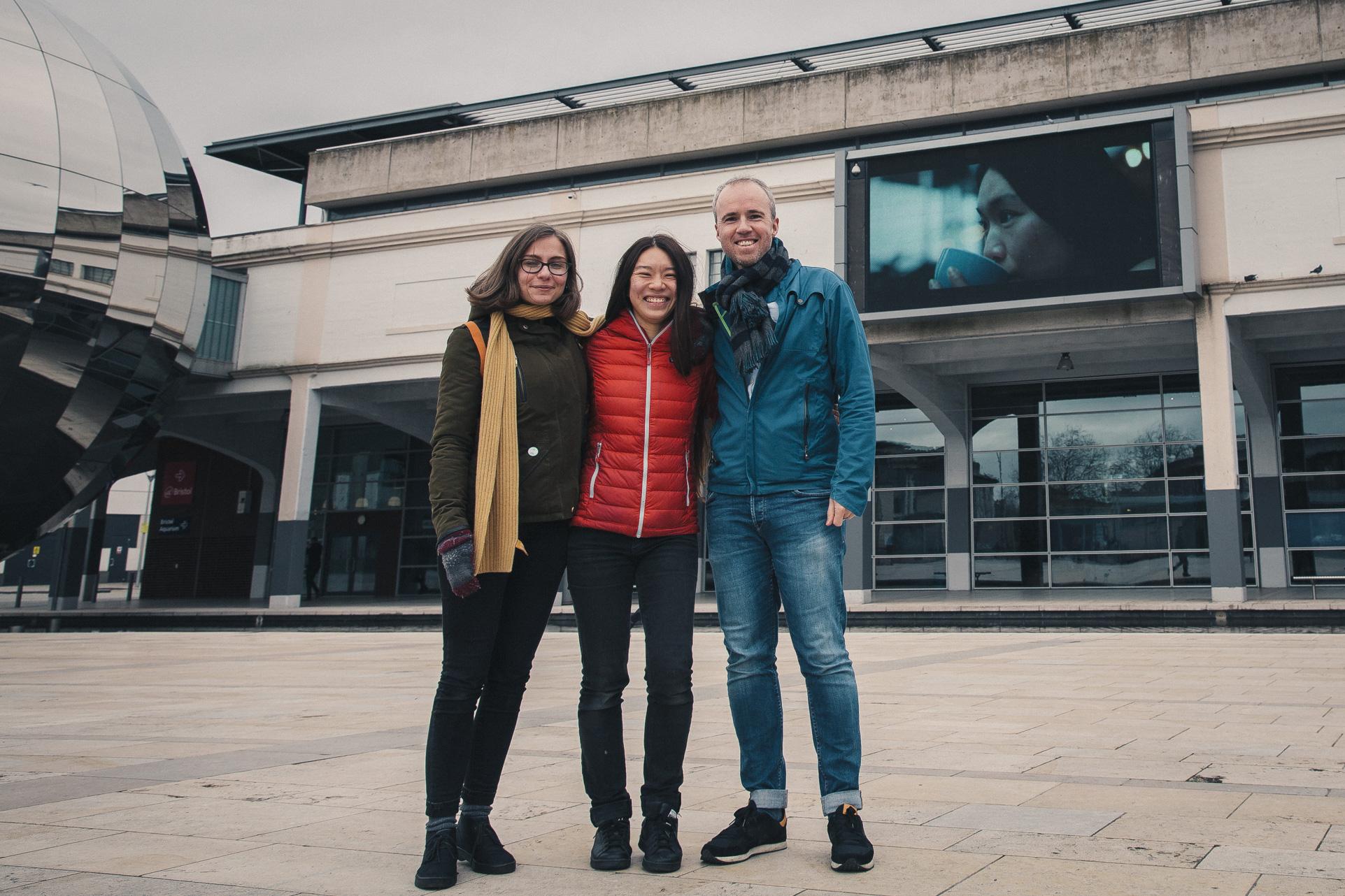 Kasia Kiliszek, Charlene Lim and me.