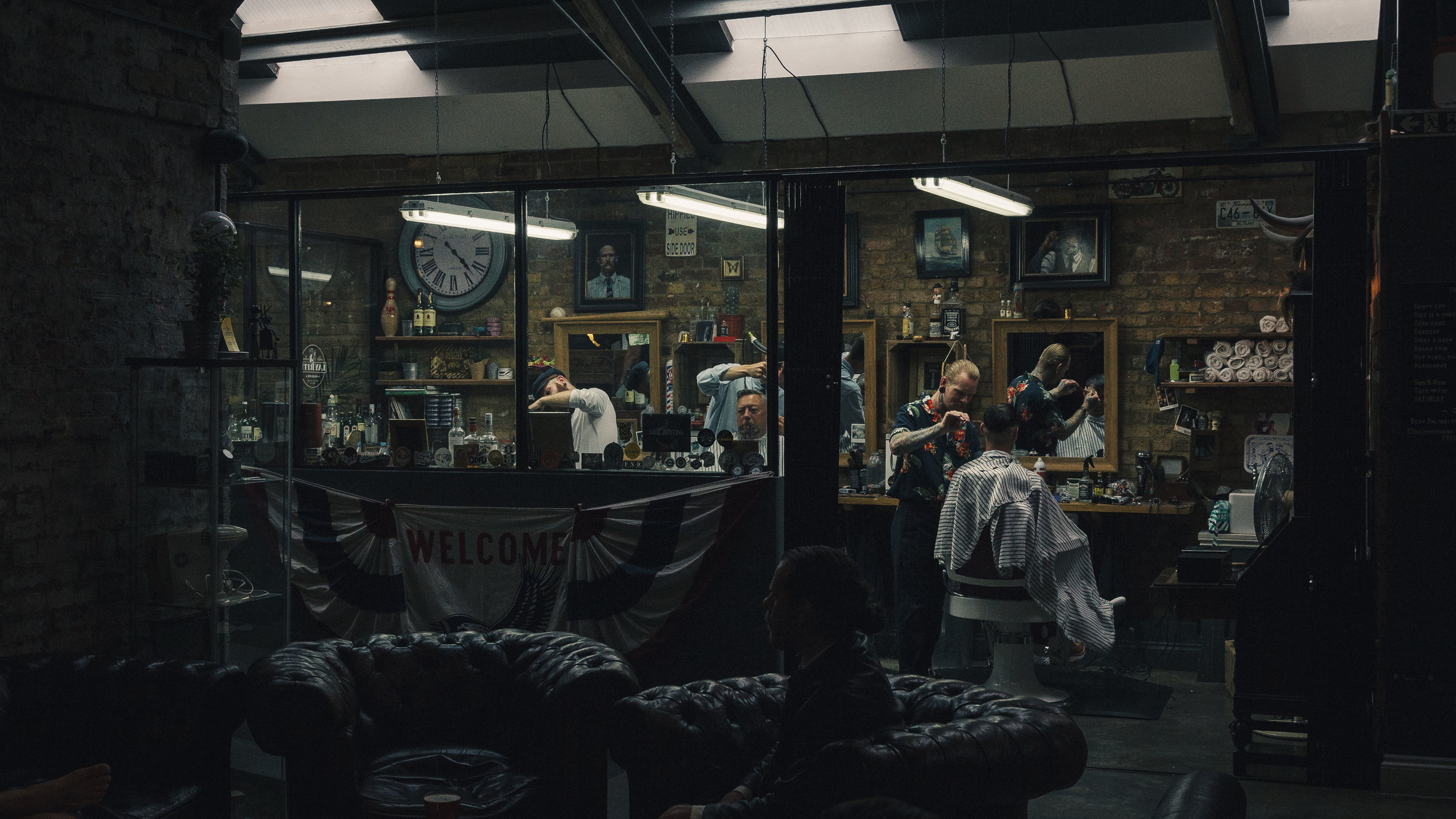 Barbershop in the Bike Shed.