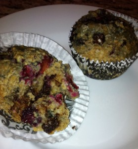 Blackberry oat muffins