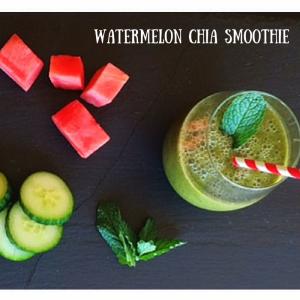 Watermelon chia smoothie