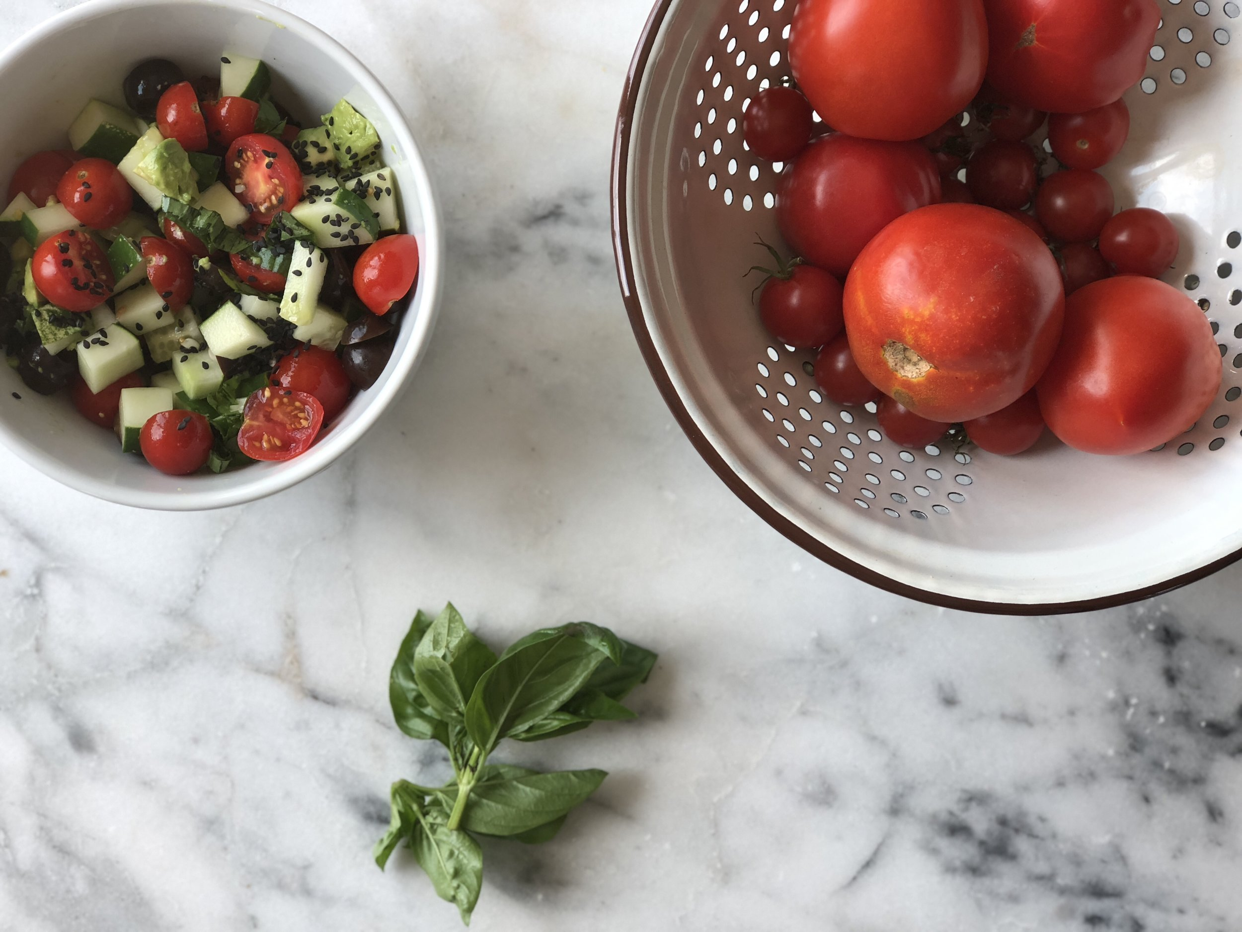 tomato basil salad and tomatoes.jpg