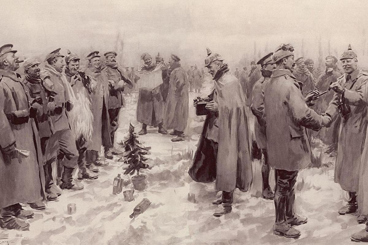 Božično premirje sredi norosti - V času prve svetovne vojne se je zgodil dogodek, kjer je ena pesem združila sovražnike v božičnem duhu, da so ti praznovali skupaj, kakor prijatelji, si izmenjali darila in naslove ter pri tem na nikogaršnji zemlji sredi vojne zaigrali celo nogometno tekmo.