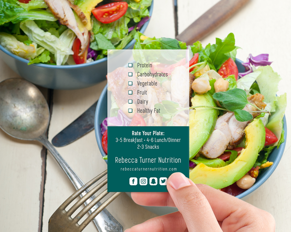 Rate Your Plate - Business Card Tool