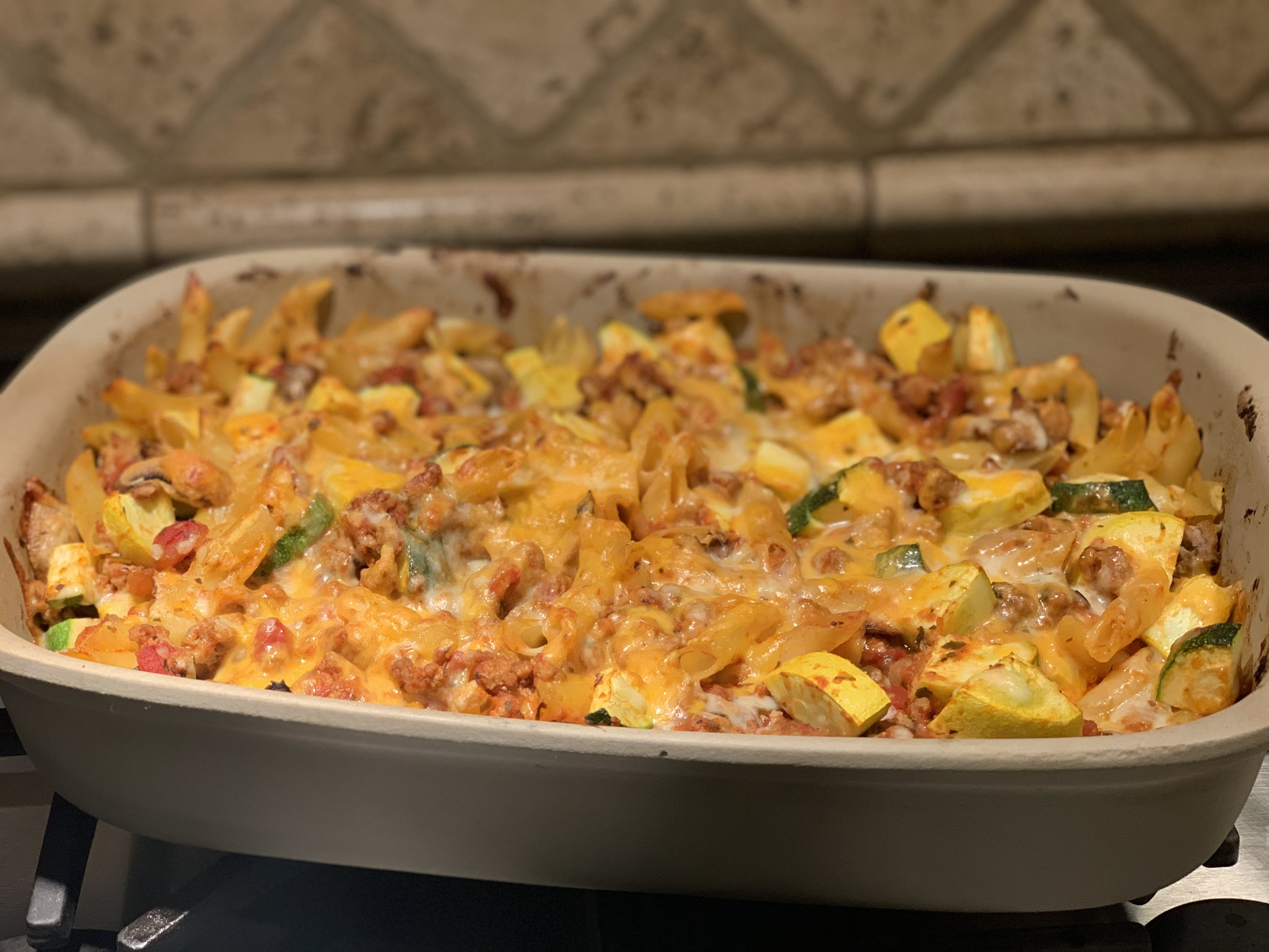 Easy Italian Pasta Bake with Turkey