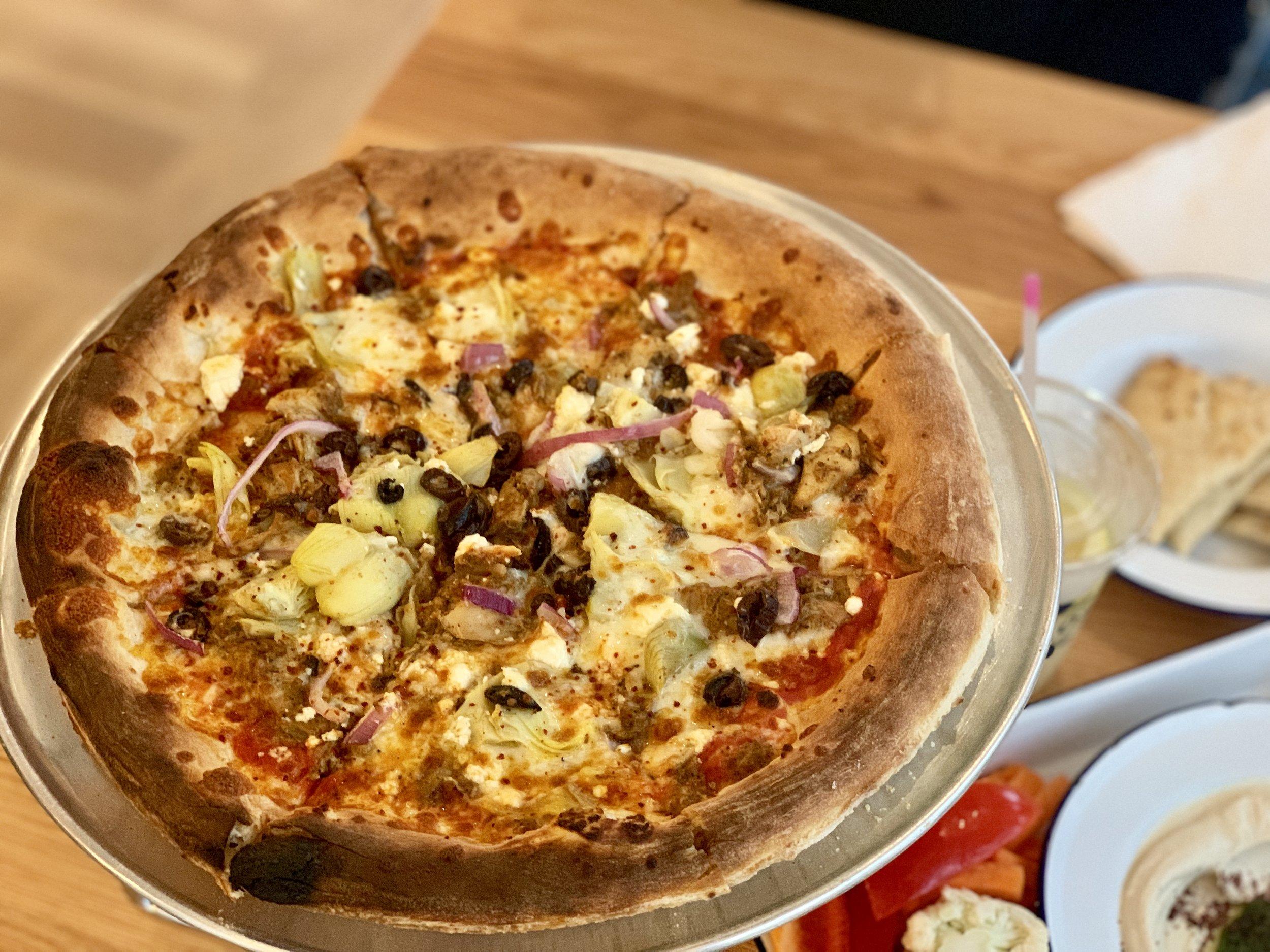 Greek pizza!
