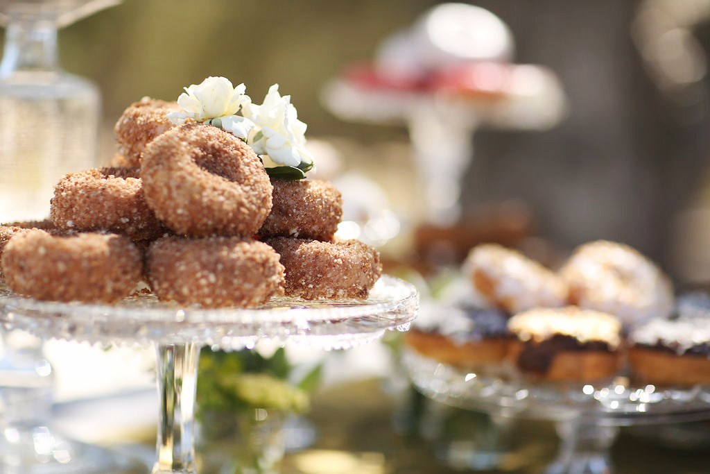 Wedding Reception donut bar