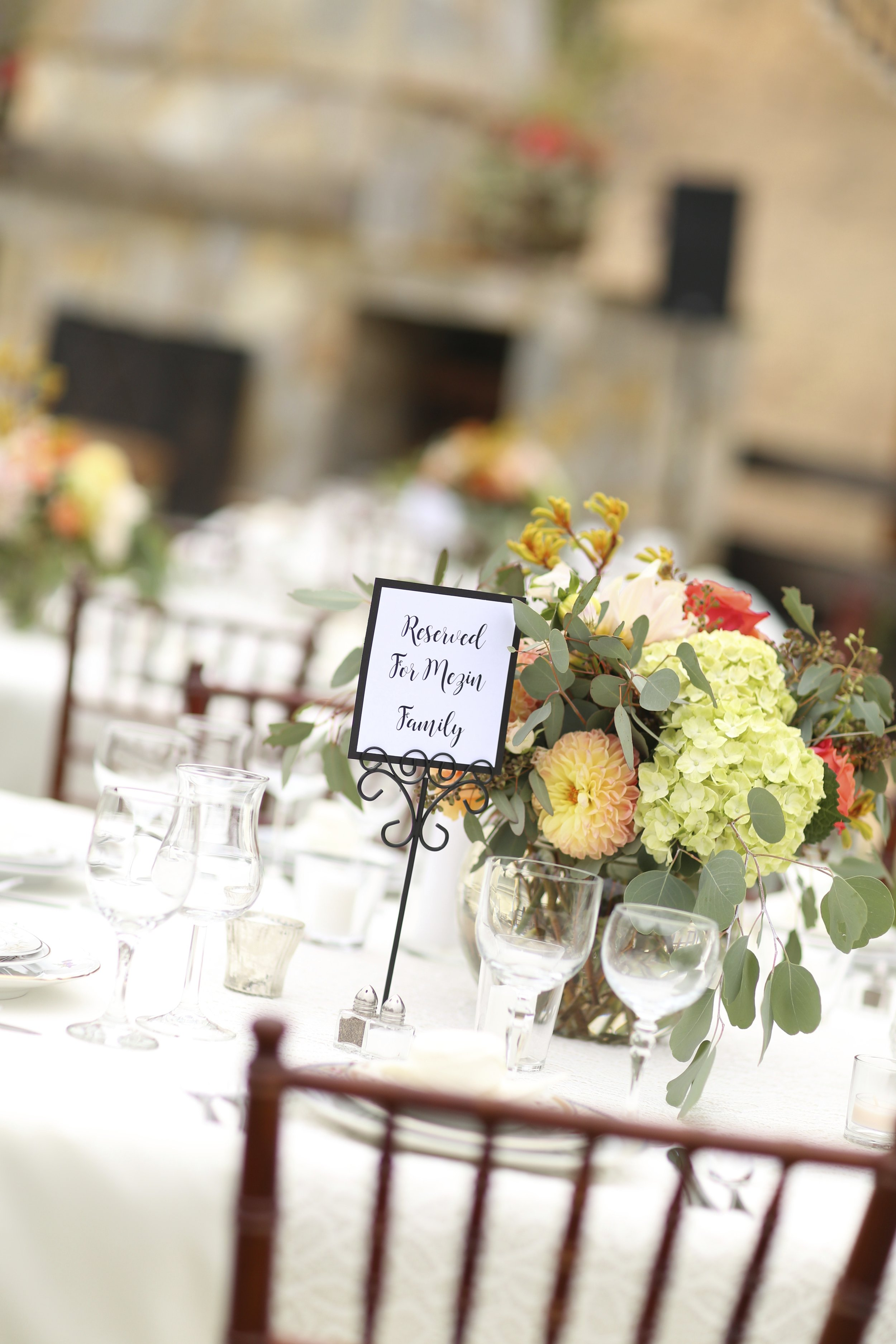 Reserved Wedding Table
