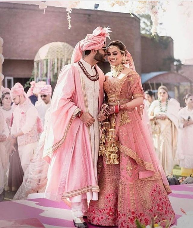 There is just something magical about this wedding couple. Their wedding attire is so detailed and ornate yet appealing to any eye. Love how they coordinate so beautifully together. Regram from @weddingwoke . . #weddingattire #weddingcouples #indianbride #indianwedding #indianweddingcouture #indianweddingfashion #indianweddingstyle #indianweddingcouple #indianbride #indiangroomswear #indianbeauty #indianweddingdress #weddingplanning #weddingplanner