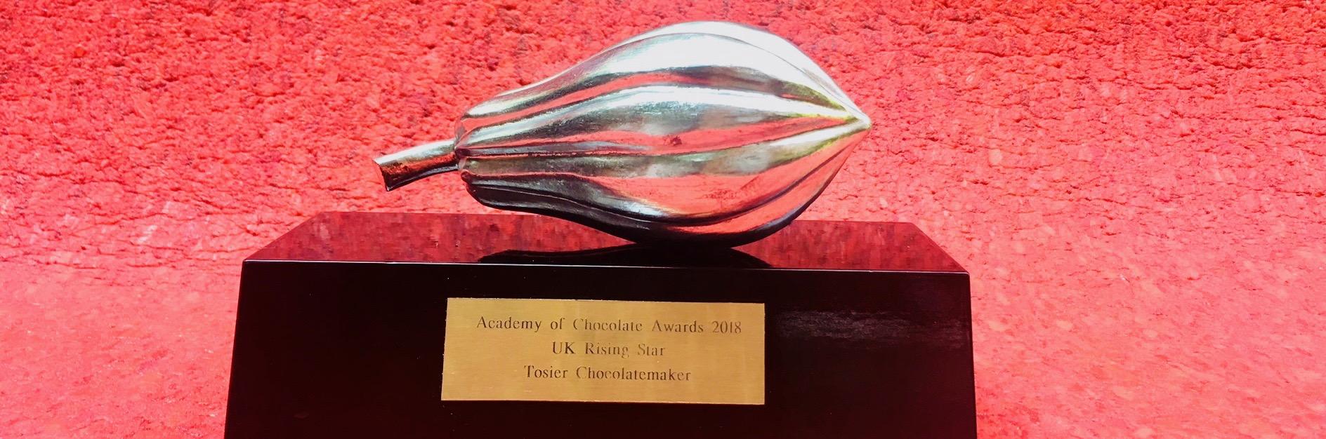 Academy of Chocolate UK Rising star Award 2018