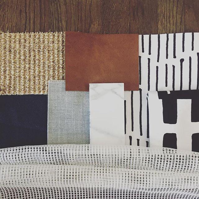 Palette buildin'. #wodesigns #fabriclove #livingroomdesign #interiordesign
