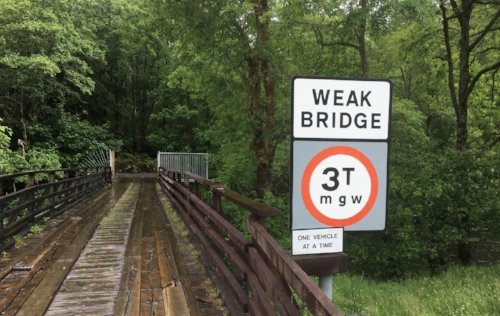 Not the bridge of Orchy... or particularly reassuring