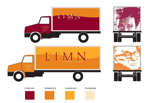 The Limn delivery trucks needed to be iconic for an eclectic San Francisco crowd. Who better to adorn them than Le Corbusier and Philippe Starck?