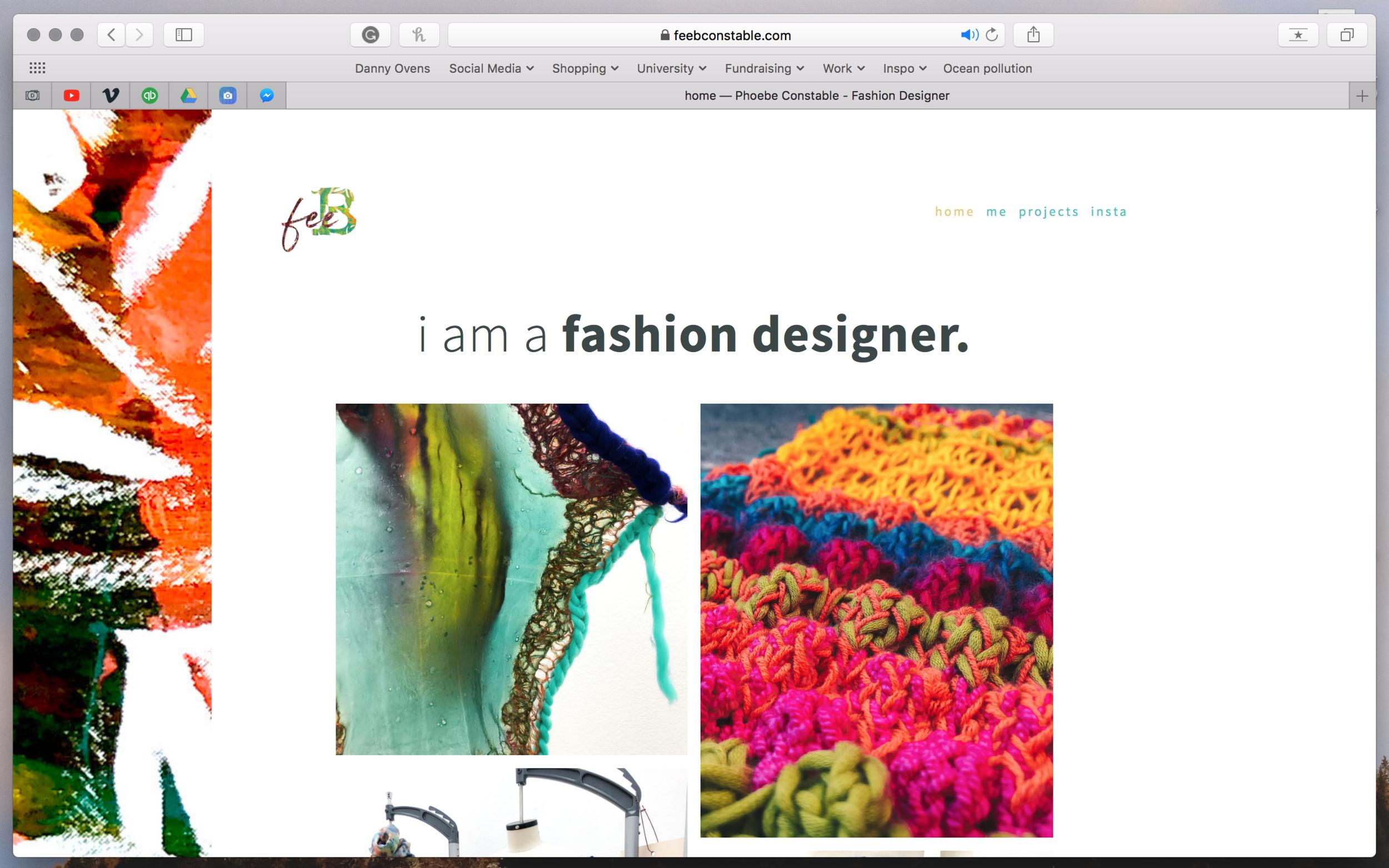 Feeb Fashion Website Design Danny Ovens Photographer And Videographer