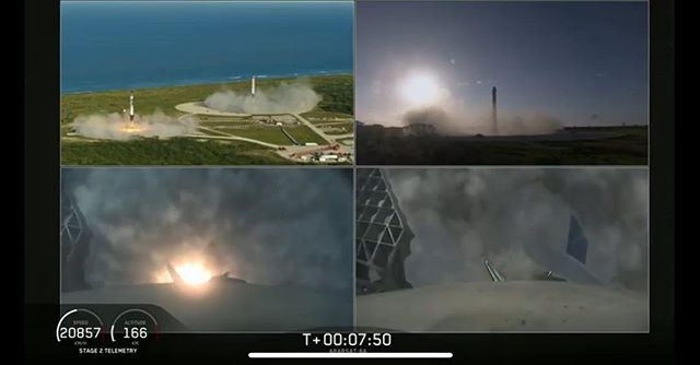 @spacex launches the largest rocket yet by a factor of 2. Sticking a triple rocket landing... two by land, one by sea. 🌱🚀