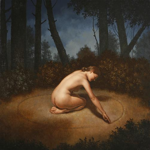 The Circle , 2008, oil on canvas, 30 x 30 inches (copyright Steven Kenny)
