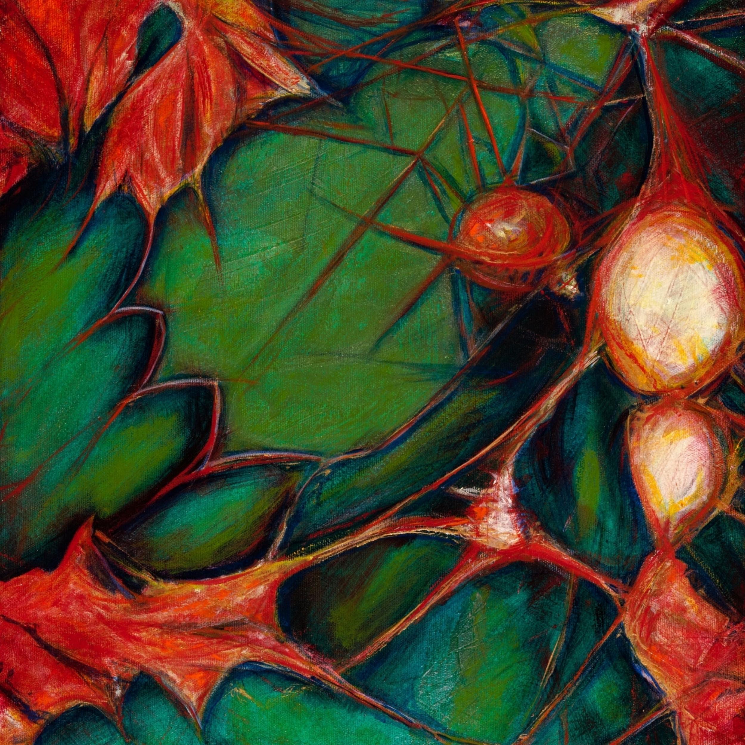 "Shaking the Rain Stick, 2015, oil on canvas, 16""x 20"" (copyright D YaeL Kelley)"