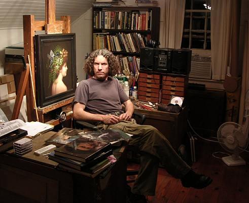 My studio, Flint Hill, VA, 2007, approx 10 x 12 feet.