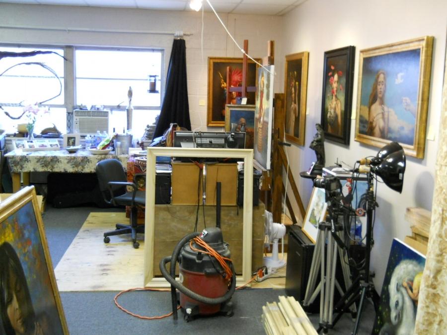 My studio, Warwick, NY, 2011, approx 20 x 30 feet.