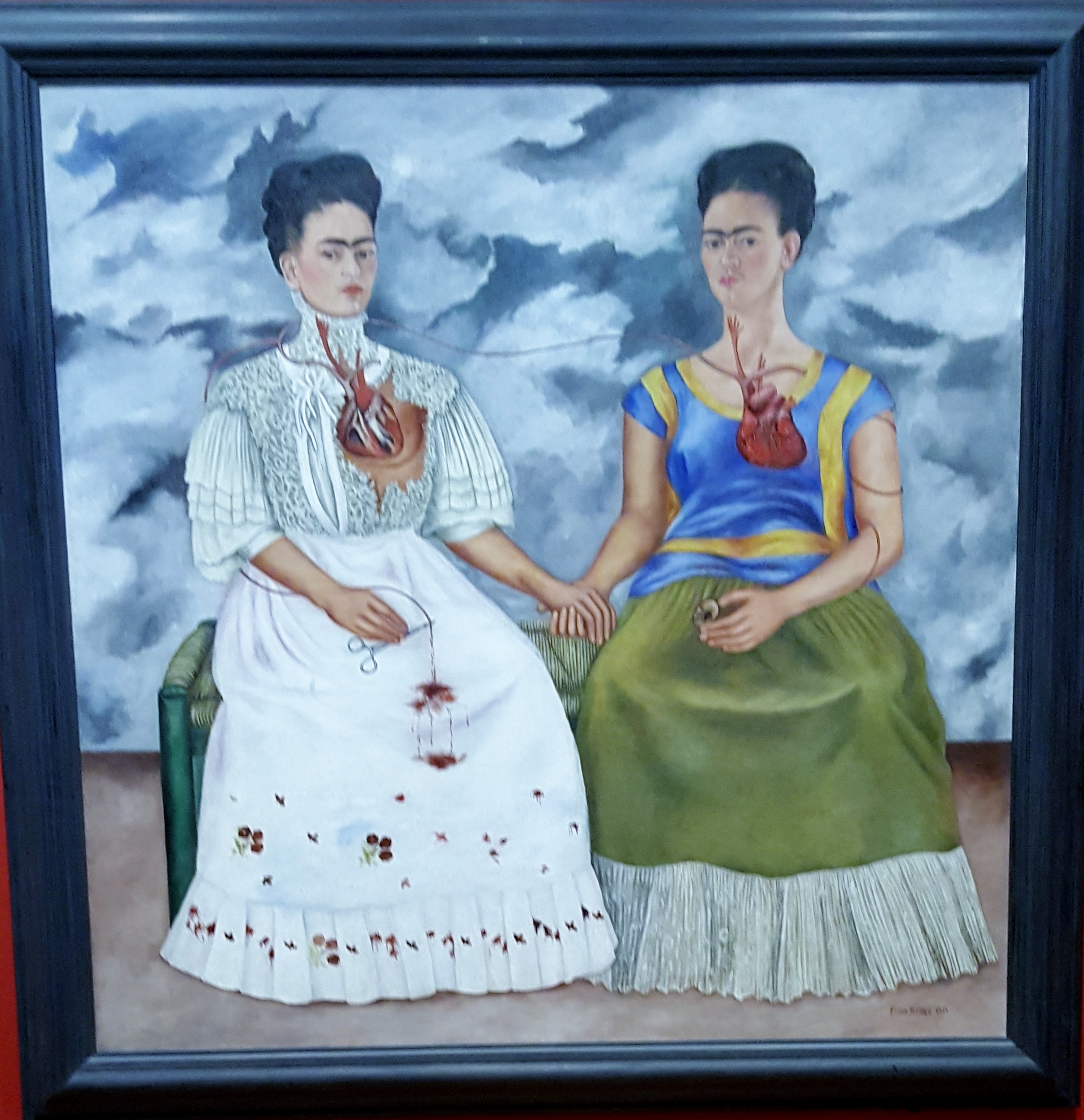 The Two Fridas by Frida Kahlo - my photo of the original from the current Dallas Museum of Art exhibition Mexico 1900-1950