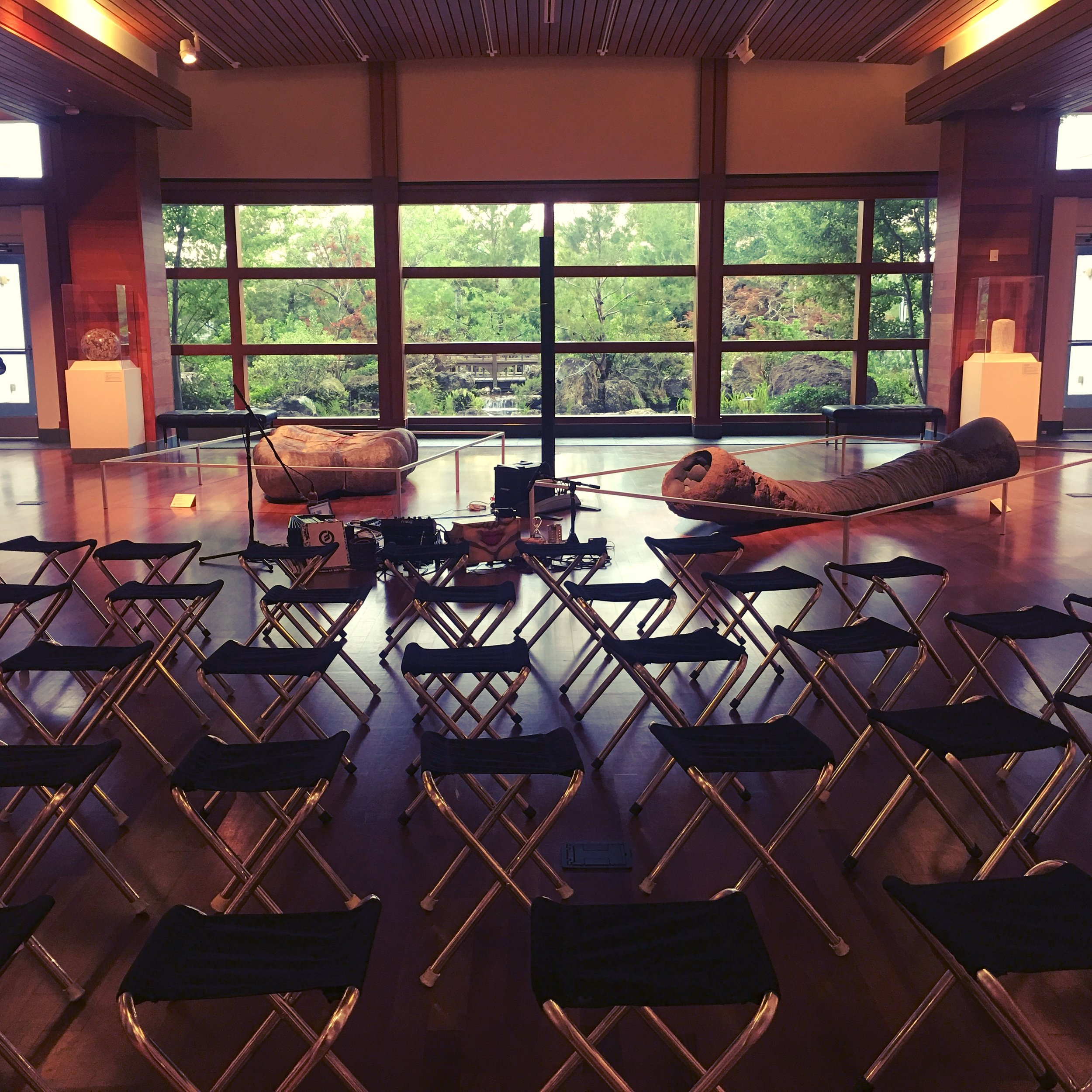 Performance setup at The Harn Museum of Art on May 11, 2017.