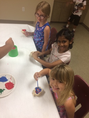Campers loved using model magic and paint to express themselves through their individual creations!