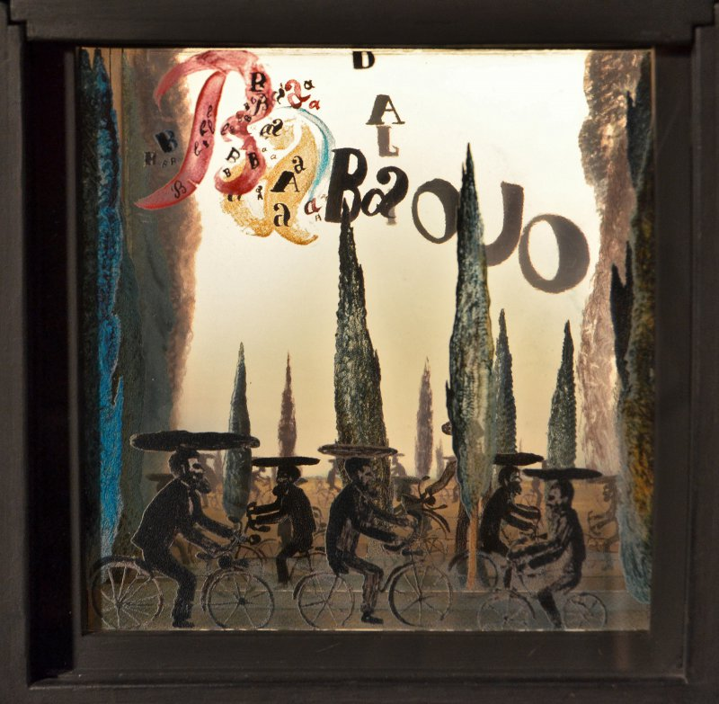 Babaouo , 1932      back-lit oil and multiple glass paneled diorama by Salvador Dalí