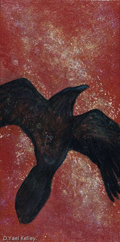 Raven's Flight  - D Yael Kelley 2015 - Private Collection
