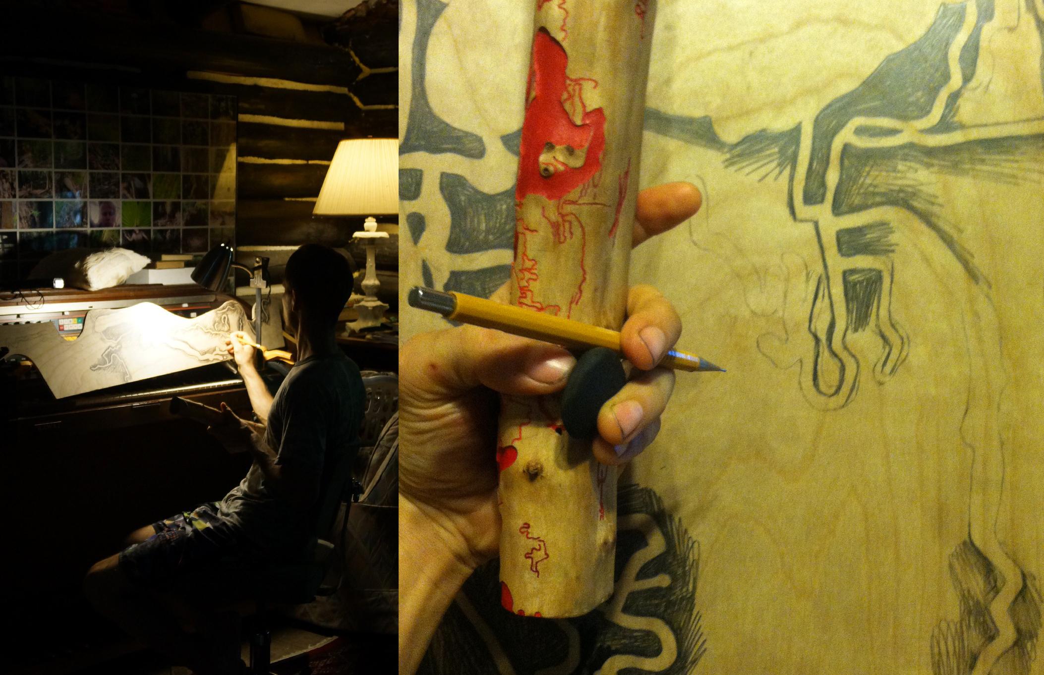 drawing the Firewood Pattern.jpg