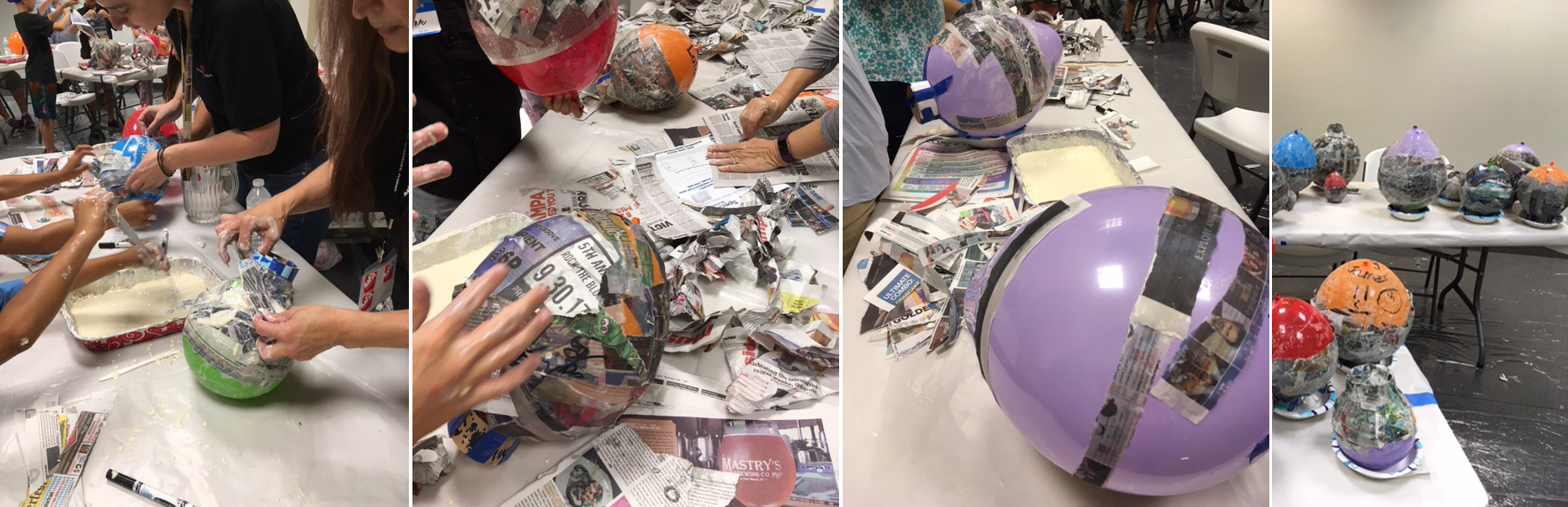 "The first steps of creating a paper mache ""balloon bowl"""