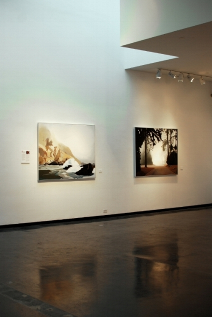 """Big Sur II"" (left) and ""UCSC"" (right) at the former Gulf Coast Museum of Art in Largo, FL."