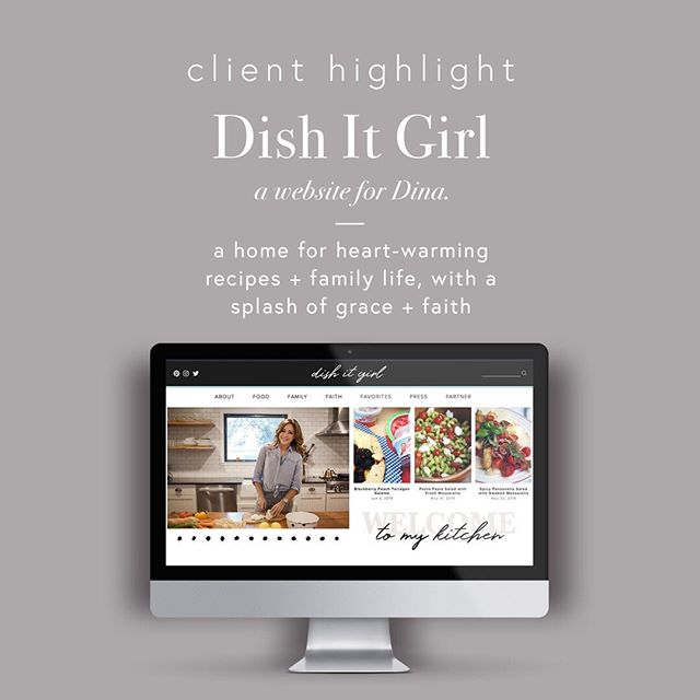 DISH IT GIRL // How delightful is this site? Dina's website transformation was amazing, and I started dreaming up this design while we were still on our initial consult call.  Between her recipes, amazing video content, and beautiful stories, Dina just had so much to share that I had to find a way to do it justice. This website's design inspiration was Kate Spade meets Lauren Conrad meets Dina's fun and sassy personality. The result was an influencer website that is super user-friendly to accommodate the recipe hunters and Dina's thousands of followers.  Want to check out the full site? Click the link in bio!  #webdesigner #communityovercompetition #squarespacedesigner #creativeentrepreneur #squarespacedesign #risingtidesociety #squarespacewebdesign #squarespacewebdesigner #smallbusinessowner #smallbusinessinspiration  #dallaswebdesign #dallasdigitalmarketing #createcultivate #bucketlistbombshells #dallassmallbusiness #womeninbusiness #solopreneur  #squarespacewebsite #dishitgirl #dinadeleasa #notaninstamom #foodblogfeed #familytable #dishspiration #sundaydinner #foodblog #foodblogger #mommyblog #mommyblogger #influencerwebdesign