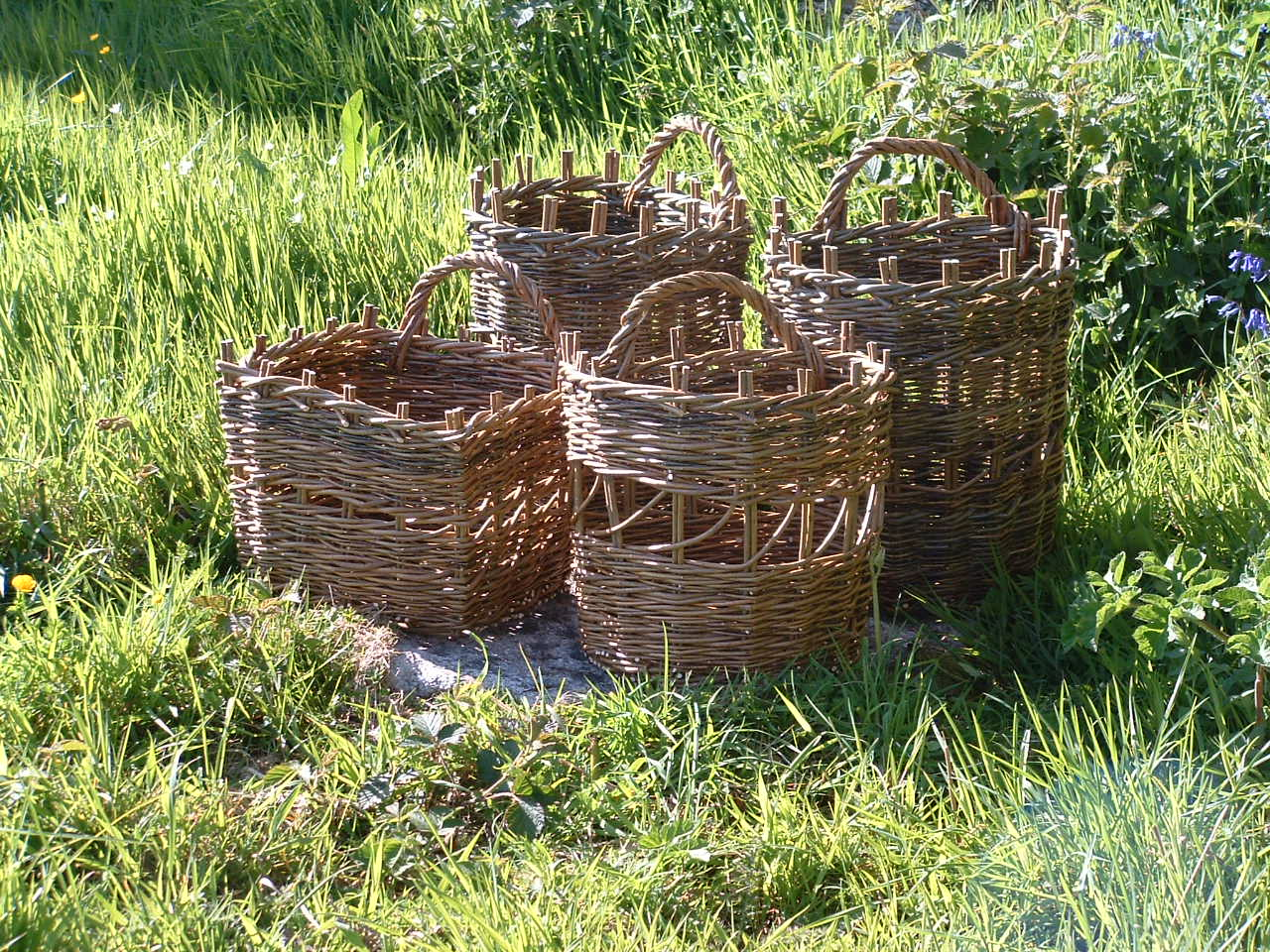 Collection of Donkey Creels in Brown Willow