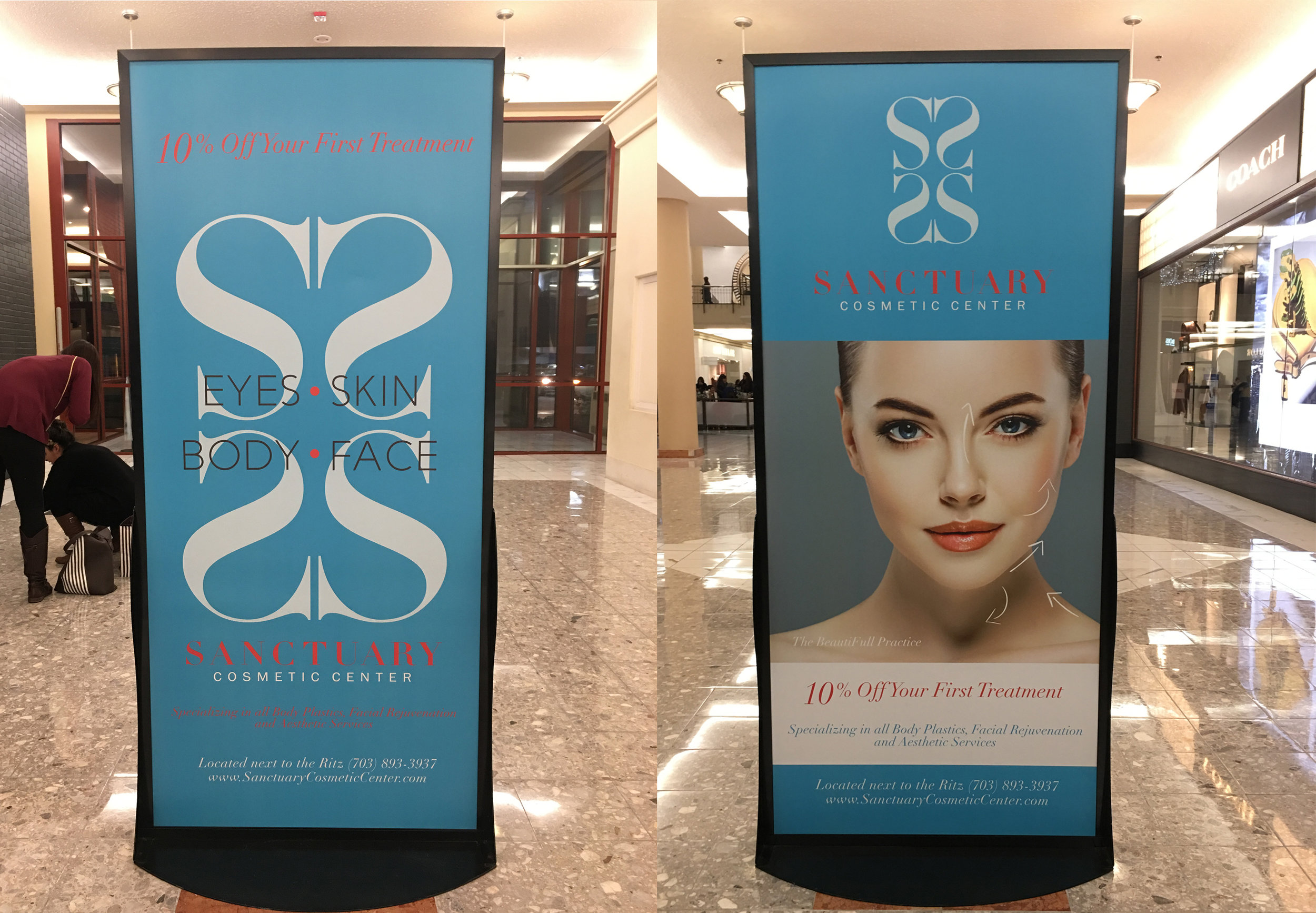 Sanctuary Cosmetic Center-Sign Printed