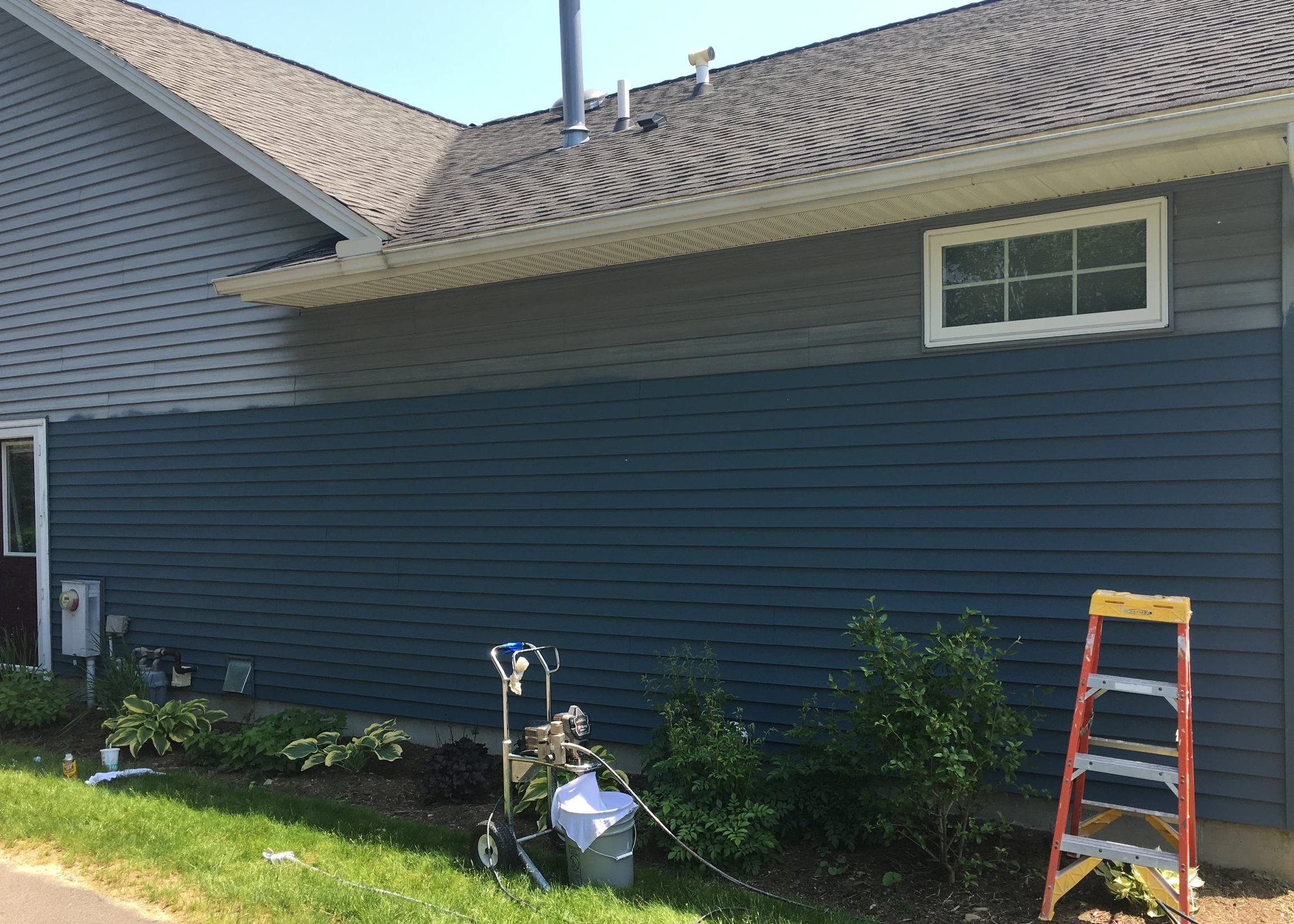 Tour of a vinyl siding project — Ernz Co  Painting